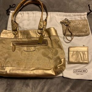 Coach Purse, wallet and wristlet bundle